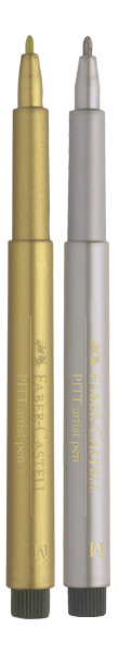"""Auksinis markeris """"Faber-Castell Pitt Metallic"""""""