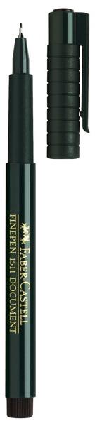 """Juodas rašiklis """"Faber-Castell Finepen 1511 Document"""""""
